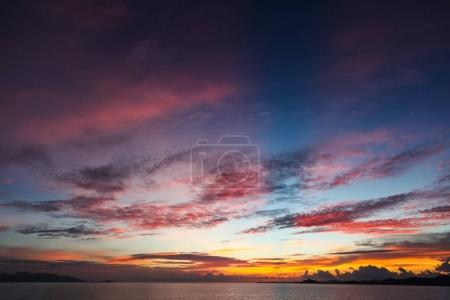 Photo for Colorful sunset sky over tranquil sea surface - Royalty Free Image