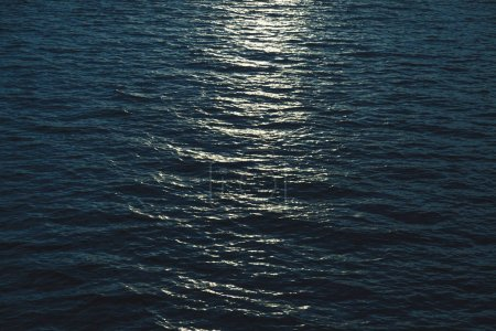 Photo for Beautiful sea surface with moonlight reflection - Royalty Free Image