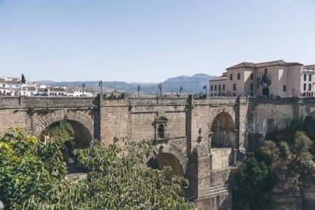 scenic view of Puente Nuevo bridge in Ronda, spain