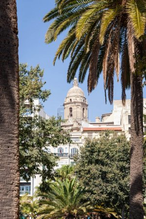 Photo for Scenic view of cathedral tower in spain - Royalty Free Image
