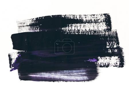 abstract painting with dark purple and black brush strokes on white