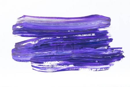 Photo for Abstract painting with dark blue and purple brush strokes on white - Royalty Free Image