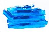 """Постер, картина, фотообои """"абстрактной живописи с яркой голубой мазки на белом"""""""