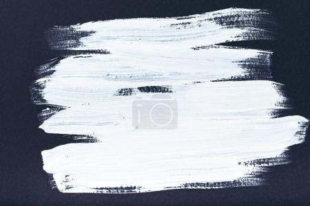 Photo for Abstract painting with white brush strokes on black - Royalty Free Image