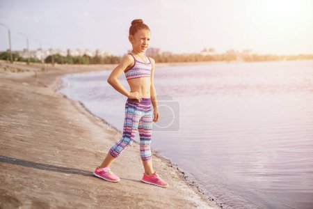 Photo for Healthy lifestyle - child girl outdoor - Royalty Free Image