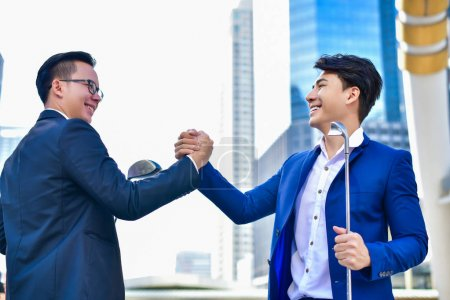 Concept Business people playing sports, Businessmen are fighting