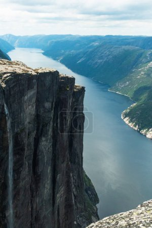 Photo for Scenic view of majestic scandinavia mountains in Norway - Royalty Free Image
