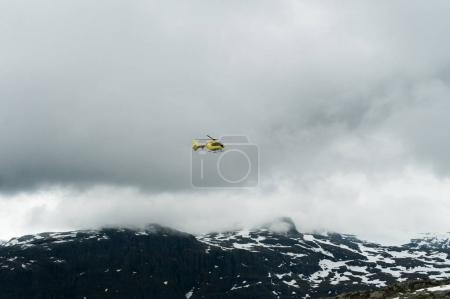 Helicopter in the Norwegian mountains