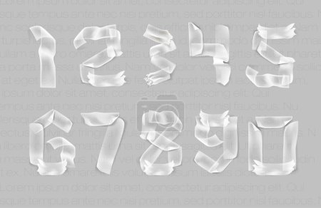 Set numbers from torn paper