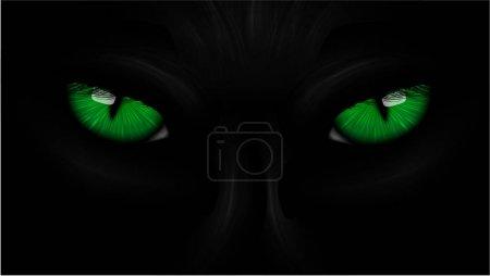 green eyes black Panther