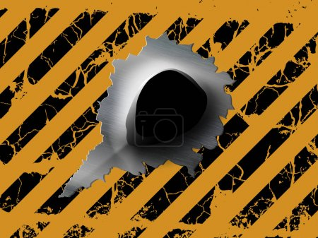 One bullet hole
