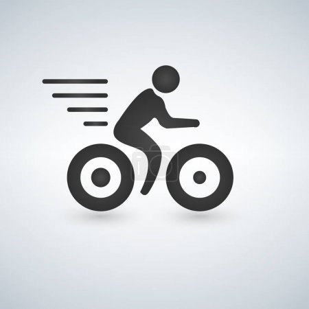 Bicycle sign icon. Vector illustration isolated on white background.