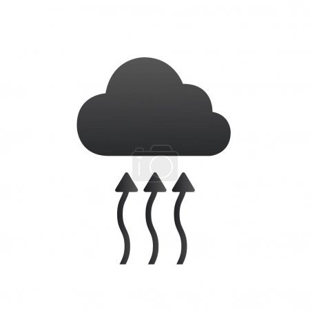 The water cycle concept icon. Water arrows goes up...
