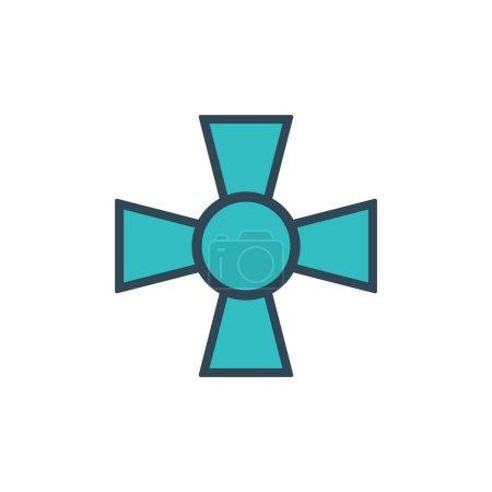 Illustration pour Choppers militaire amy croix. Illustration vectorielle de stock isolé - image libre de droit