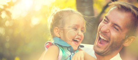 Photo for Happy joyful young father with his little daughter - Royalty Free Image