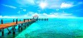 Tropical beach resort on Caribbean island
