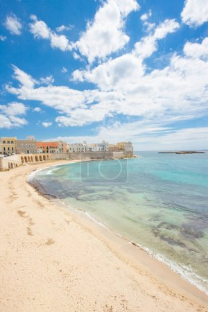 Photo for Gallipoli, Apulia, Italy - Magnificent coastline of an impressive italian city - Royalty Free Image