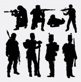 soldier army military training and exercise silhouette