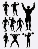 Body builder and heavy lifter man sport in gymnastic activity Good use for symbol logo web icon sticker design sign or any design you want Easy to use