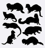 Weasel wild animal silhouette