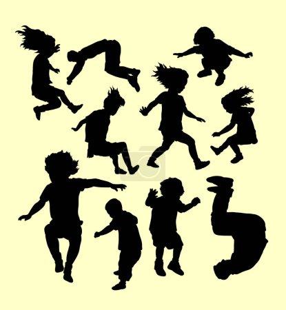 Illustration pour Bonne silhouette de jeu et d'entraînement sportif. Bon usage pour le symbole, logo, icône web, mascotte, signe, autocollant, ou tout autre design que vous voulez - image libre de droit