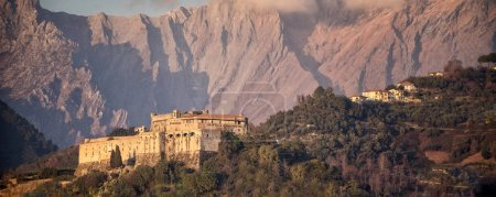 Photo for The Malaspina fortress, or Malaspina castle, is a medieval fortification that, thanks to its privileged position, dominates the city of Massa. - Royalty Free Image