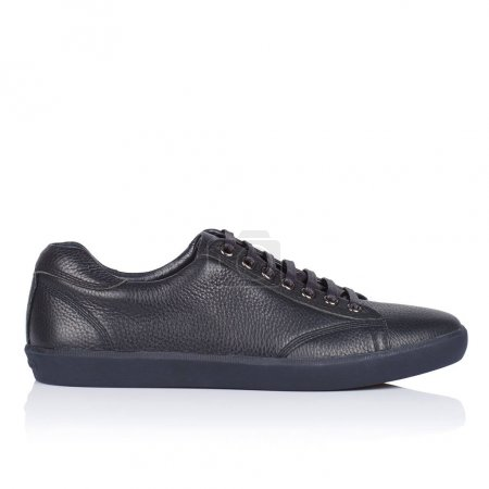 Male shoes on a white background, with a shadow on...
