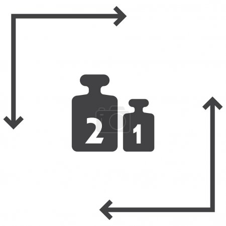 Weight for scales icon.