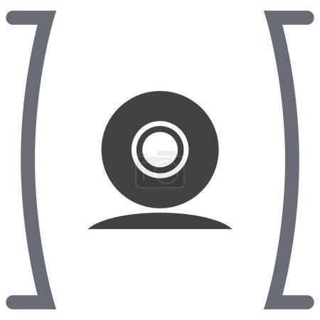 Web cam vector icon. Conference camera sign. Secur...