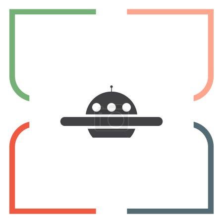 Ufo icon. Alien ship sign