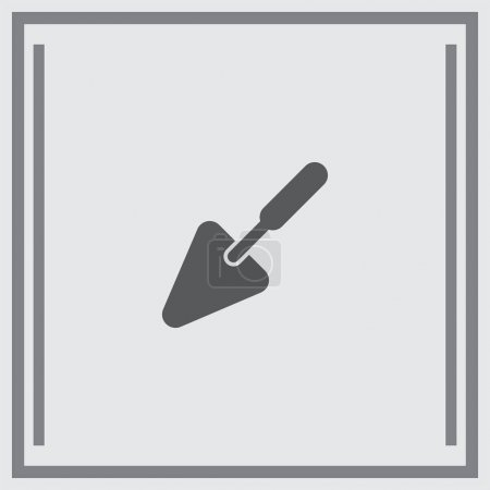 Trowel cement tool icon
