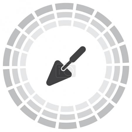 Illustration for Trowel vector icon. Construction mason equipment. Plastering spatula symbol - Royalty Free Image