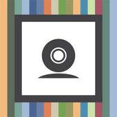 Web cam vector icon Conference camera sign Security cam symbol