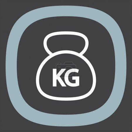 Weight sign line  icon