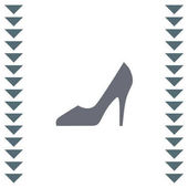 Woman shoe vector icon High heels sign Female classy footwear
