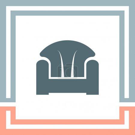 armchair furniture icon