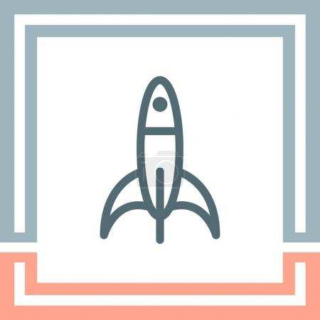 Rocket sign line icon