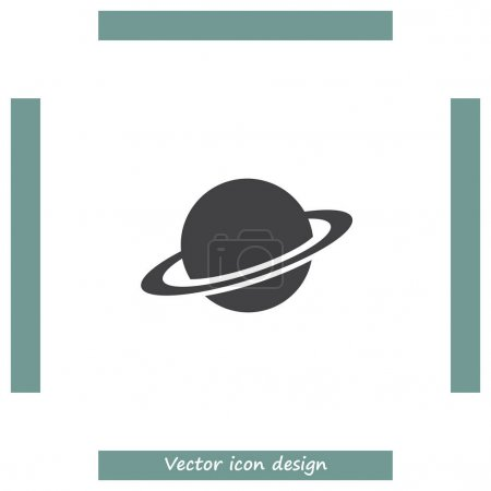 Illustration for Planet vector icon. Globe sign. Saturn symbol - Royalty Free Image