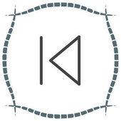 Skip Backward button sign