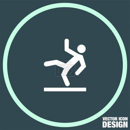 slippery wet floor  icon