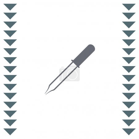 medical pipette  icon