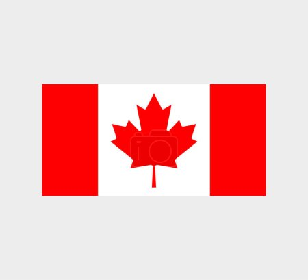 Illustration for Canada Flag. National Canadian Flag Vector - Royalty Free Image