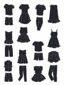 Silhouettes of summer clothes for girls