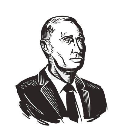 Putin, President of Russian Federation. Vector illustration
