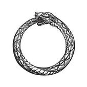 Ouroboros Snake eating its own tail Eternity or infinity symbol