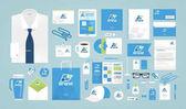 Business design Corporate identity template Logo label brand promotion Vector illustration