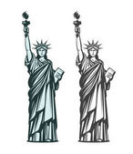 Statue of liberty Symbol of New York or USA Vector illustration