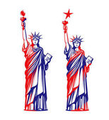 Statue of liberty freedom USA symbol or icon Vector illustration