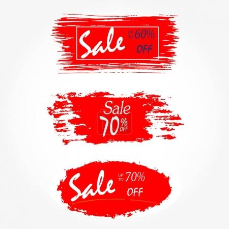 Geometrical social media sale banners and ads, web template collection. Vector illustration for mobile website posters, email and newsletter designs, promotional material