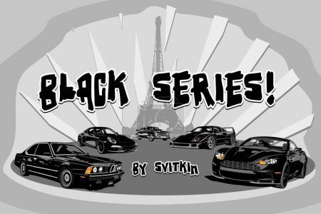 Black Super Car Series